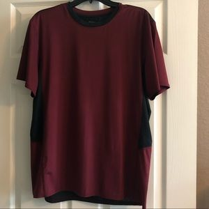 Fitted Maroon and Black Dri-fit Top